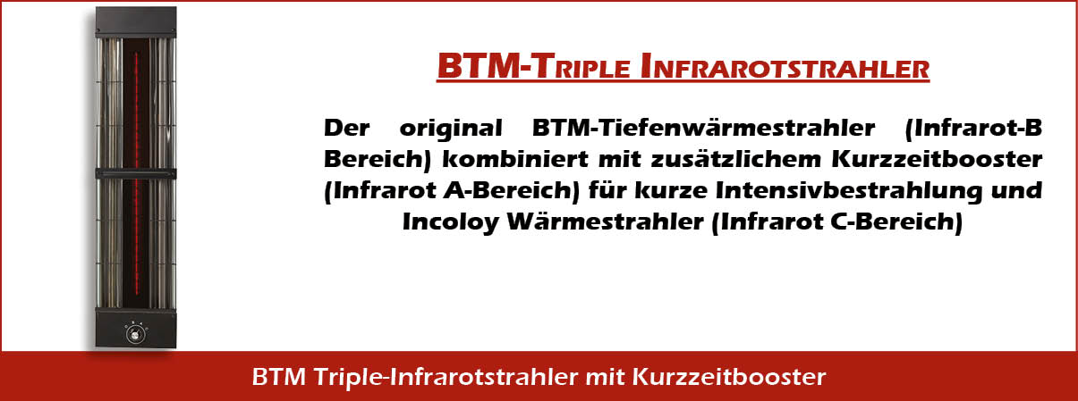BTM Infrarotkabine Tripple Infrarotstrahler