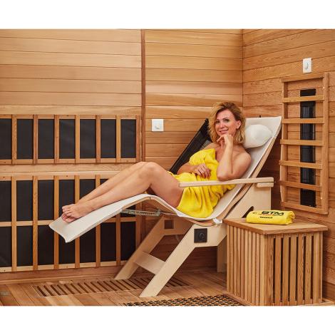 BTM Infrarotkabinen Therapeutica Liege Corner Relax mit Armlehne