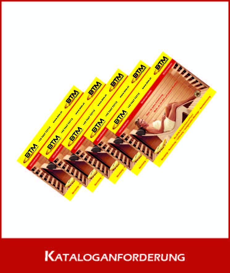 BTM Infrarotkabine Kataloganforderung